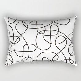 Geometric lines no.3 Rectangular Pillow