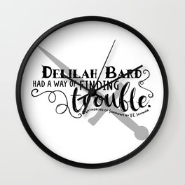 Finding Trouble (on light) Wall Clock