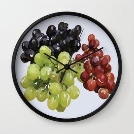 Grape Bunches Wall Clock