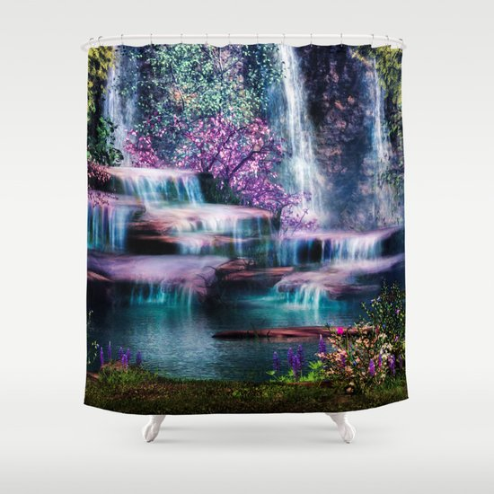 Fantasy forest shower curtain by gypsykissphotography for Fantasy shower curtains