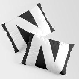 Letter N (White & Black) Pillow Sham