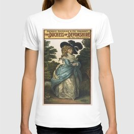 Vintage poster - Duchess of Devonshire T-shirt
