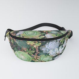 Succulents Green Garden Fanny Pack