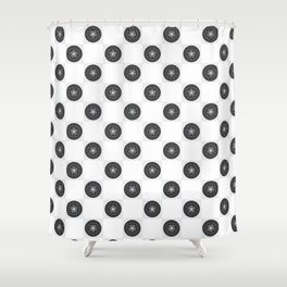 round foral Shower Curtain