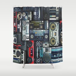 boomboxs Shower Curtain