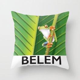 Belem Brazil travel poster Throw Pillow