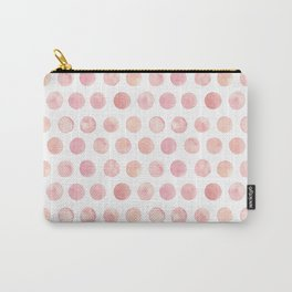 Watercolor Polka Dot Carry-All Pouch