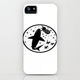 Pineapple Shark iPhone Case