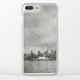 Vancouver Raincity Series - Raincity i - Moody Downtown Vancouver Cityscape Clear iPhone Case