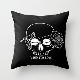Blind For Love (DARK) Throw Pillow