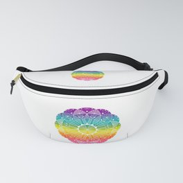 Pride Rainbow Gradient Mandala Fanny Pack