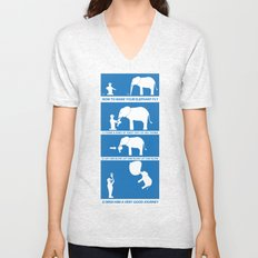 how to make your elephant fly Unisex V-Neck