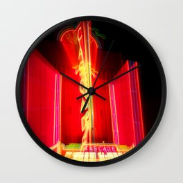 Theater Theatrics Cascade Theatre in Redding California zoom burst Wall Clock