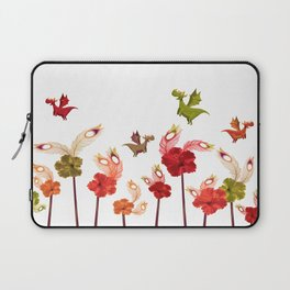 Imaginary Vintage Feather Flower Dragons Laptop Sleeve