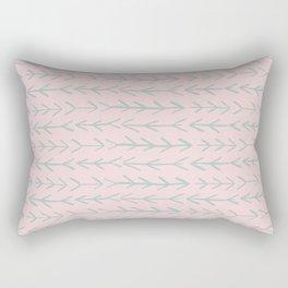 Contemporary Pink and Mint Arrow Pattern Rectangular Pillow