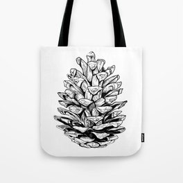 Pine cone illustration Tote Bag