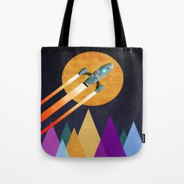 Rocket  2nd Star to the right  LLAP Tote Bag