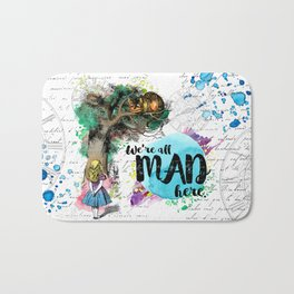 Alice in Wonderland - We're All Mad Here Bath Mat