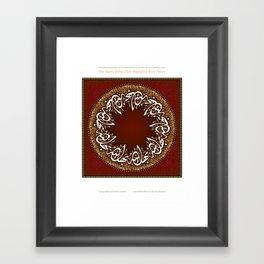 The Name of Bahá'u'lláh Nine Times Framed Art Print