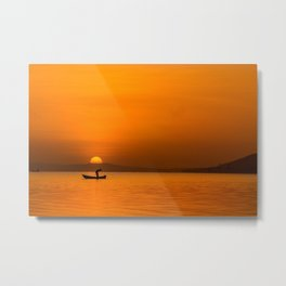 Jinja Sunrise Metal Print