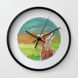 Rounded fox Wall Clock