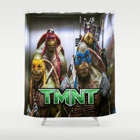 ninja turtles Shower Curtains featuring ninja turtles  by custompro