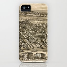 Map of Hoboken 1912 iPhone Case