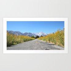 Yellow Lane Art Print