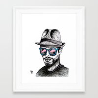 rave Framed Art Prints featuring Reflective Rave by Samantha J Creedon