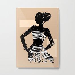 Brushilhouette 04 Metal Print