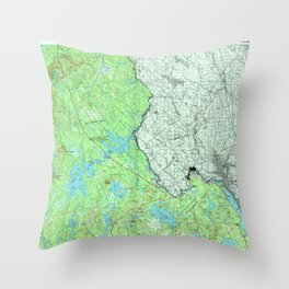 ME Calais 807827 1994 topographic map Throw Pillow