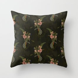 Tropical plants and animals Throw Pillow