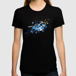 Splattered Blue jay T-shirt