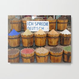 Souq No. 1: Spices in Aswan, Egypt (2005) Metal Print