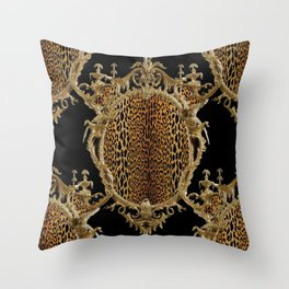 Leopard Chinoise Throw Pillow