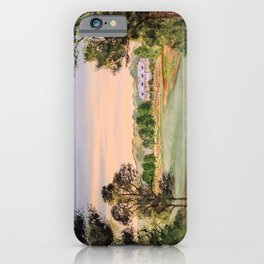 Hamilton Farm Golf Club Highlands Course 18th hole iPhone Case