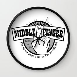 The Middle Finger Company Wall Clock