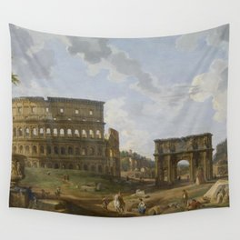 Giovanni Paolo Panini - View of the Colosseum Wall Tapestry