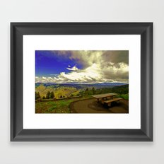 Table with a View Framed Art Print