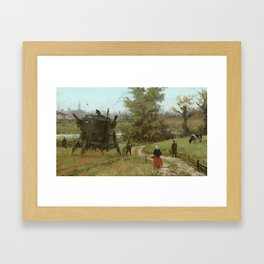 1920 - breakfast is coming Framed Art Print