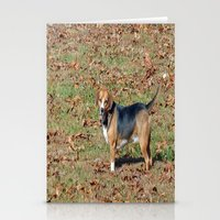 beagle Stationery Cards featuring Beagle by Frankie Cat