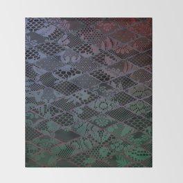 dark lace Throw Blanket