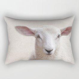 Lamb Portrait Rectangular Pillow