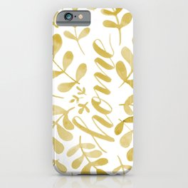 Watercolor home foliage – yellow iPhone Case