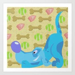 Doggy Daydreams Art Print
