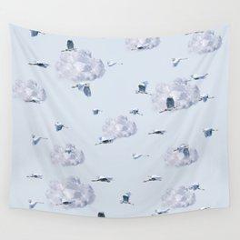 Blue Heron Skies Wall Tapestry
