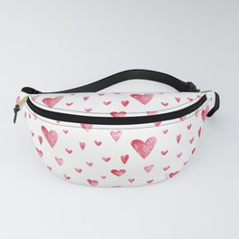 Watercolor print with hearts Fanny Pack