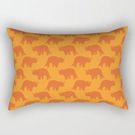 Triceratops on Orange Rectangular Pillow