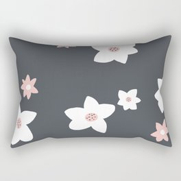 Modern Daisy Pattern Rectangular Pillow