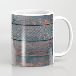 Dark rustic wood panel boards Coffee Mug